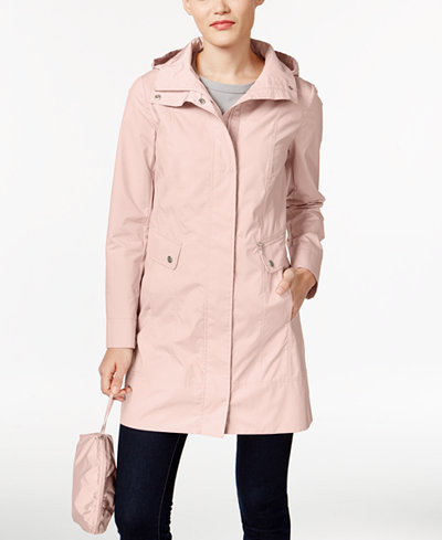 Cole Haan Packable Hooded Raincoat Coats Women Macy S