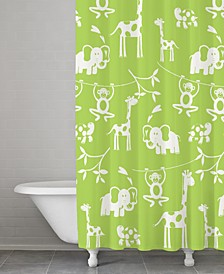 100% Cotton Zoo Shower Curtain