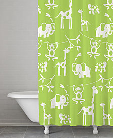 Kassatex Kassa Kids Cotton Jungle Shower Curtain