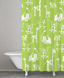 Cassadecor 100% Cotton Zoo Shower Curtain