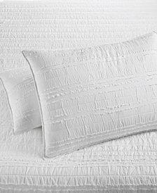Martha Stewart Collection  100% Cotton Eyelash Stripe Quilted Standard Sham, Created for Macy's