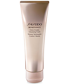 Shiseido Benefiance Extra Creamy Cleansing Foam, 4.4 oz.