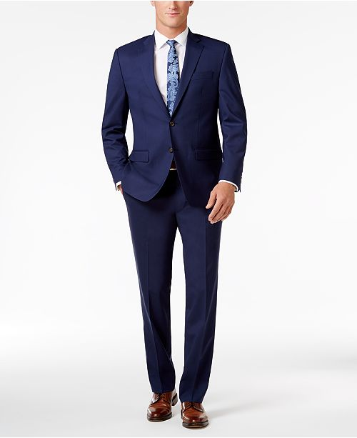 Lauren Ralph Lauren Men's Classic-Fit Navy UltraFlex Suit