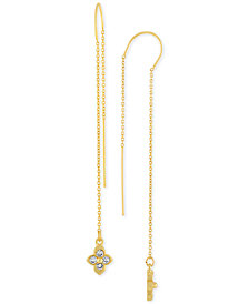 RACHEL Rachel Roy Gold-Tone Crystal Studded Threader Earrings