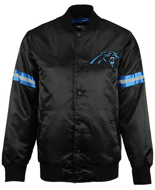 new style da8b6 34dde G-III Sports Men's Carolina Panthers Starter Satin Jacket ...
