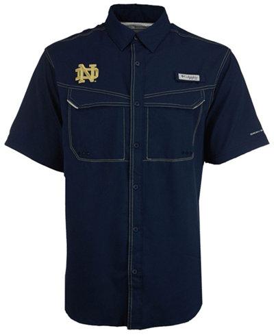 Columbia Men's Notre Dame Fighting Irish Low Drag Off Shore Button Up Shirt