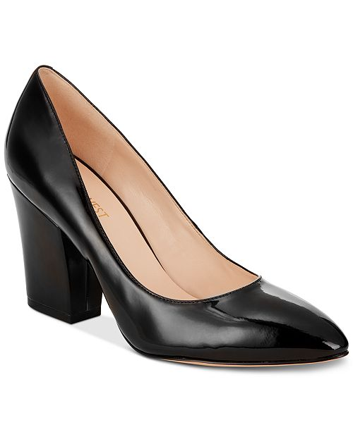 7fd9c871acd Nine West Scheila Block-Heel Pumps   Reviews - Pumps - Shoes ...