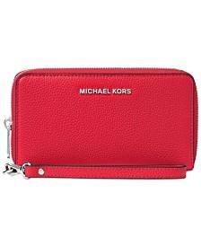 MICHAEL Michael Kors Mercer Pebble Leather Multi Function Phone Case