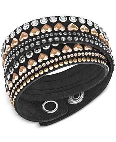 Swarovski Two-Tone Black Alcantara� Slake Bracelet