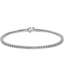 Certified Diamond Tennis Bracelet (2 ct. t.w.) in 14k White Gold