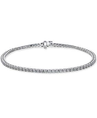 Certified Diamond Tennis Bracelet (2 Ct. T.W.) In 14k White Gold by Macy's