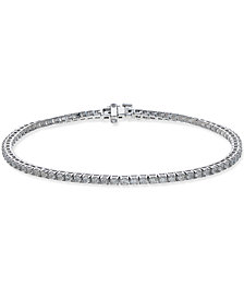 Certified Diamond Tennis Bracelet (2 ct. t.w.) in 14k White Gold