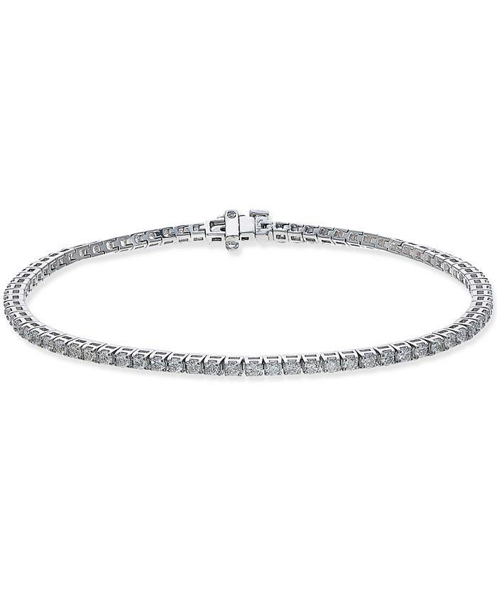 Macy's - Certified Diamond Tennis Bracelet (2 ct. t.w.) in 14k White Gold