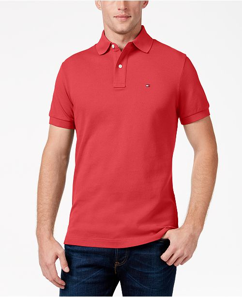 59dc844e Tommy Hilfiger Men's Custom-Fit Ivy Polo & Reviews - Polos - Men ...