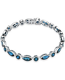 Blue Topaz Link Bracelet (20 ct. t.w.) in Sterling Silver