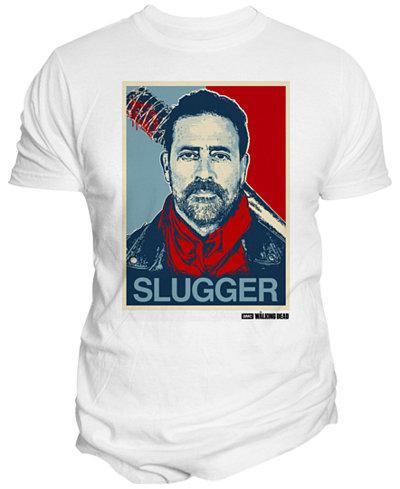 Changes Men's The Walking Dead Negan Slugger Cotton Graphic-Print T-Shirt