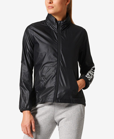 adidas Linear Windbreaker - Jackets - Women - Macy's