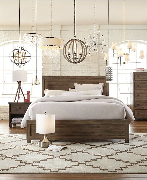 Timeless Rustic Beauty In A Modern Package The Naturally Beautiful Taupe Wire Brushed Washed Finish With Grey Undertones Of This Solid Acacia Bedroom