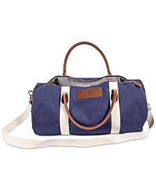 Personalized Canvas and Leather Duffle Bag