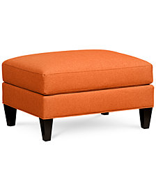 Braylei Fabric Ottoman - Custom Colors, Created for Macy's