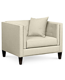 "Braylei 43"" Fabric Armchair - Custom Colors, Created for Macy's"