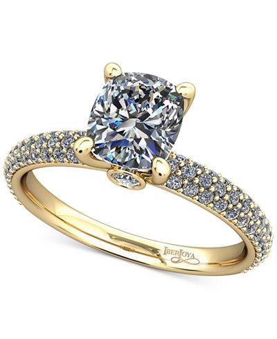 Diamond Pavé Mount Setting (1/2 ct. t.w.) in 14k Gold