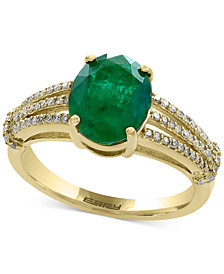 EFFY® Final Call Emerald (2-1/8 ct. t.w.) and Diamond (1/5 ct. t.w.) Ring in 14k Gold