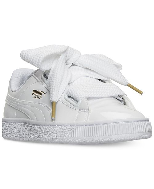 b02c6842fae Puma Women s Basket Heart Patent Casual Sneakers from Finish Line ...