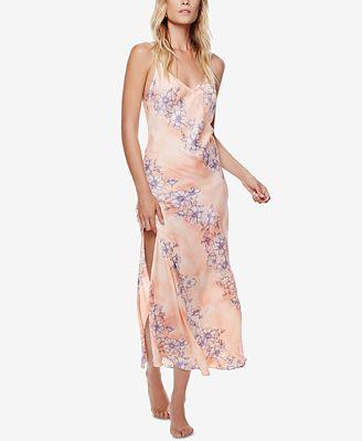 Free People Cassie Girl Printed Slip Dress