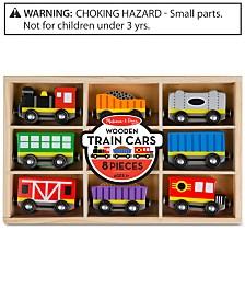 Melissa & Doug Wooden Train Cars & Pieces