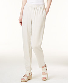 Eileen Fisher SYSTEM Silk Slouchy Ankle Pants, Regular & Petite