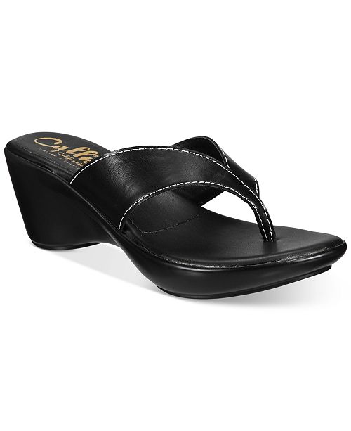 Callisto Athena Alexander by Abby Thong Wedge Sandals