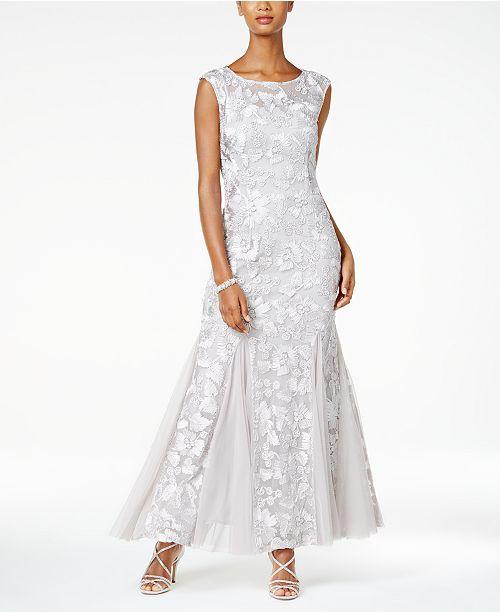 b2a706919fda2a Alex Evenings Floral Soutache Gown & Reviews - Dresses - Women ...