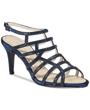 Image of Caparros Harmonica Embellished Caged Evening Sandals Women's Shoes