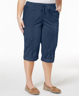 Style & Co Plus Size Skimmer Shorts, Ony at Macy's