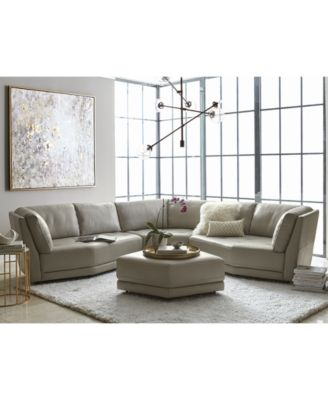 Furniture CLOSEOUT! Belice 3 Pc. Leather Modular Sofa With 3 Apartment Sofas,  Created For Macyu0027s   Furniture   Macyu0027s