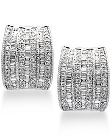 Classique by EFFY® Diamond Hoop Earrings (1-1/10 ct. t.w.) in 14k White Gold