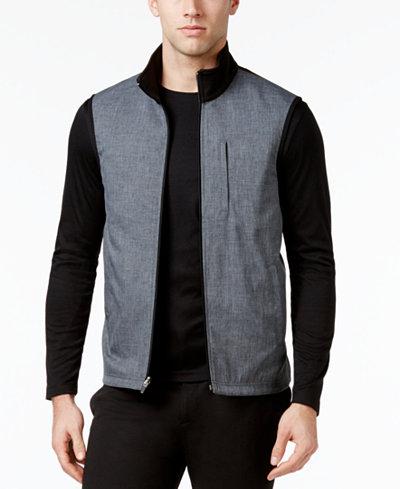Alfani Men's Reversible Stretch Vest, Created for Macy's