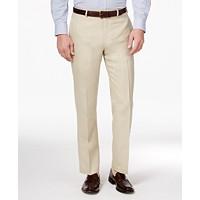 Lauren Ralph Men's Classic-Fit Solid Linen Dress Pants