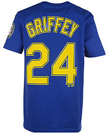 Majestic  Ken Griffey Jr. Seattle Mariners Official Player T-Shirt, Big Boys (8-20)