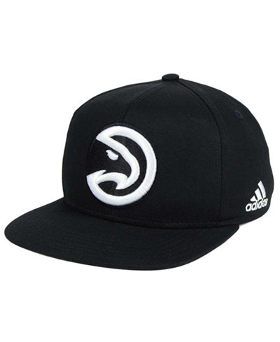 adidas Kids' Atlanta Hawks Black and White Snapback Cap