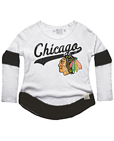 Retro Brand Women's Chicago Blackhawks Faceoff Thermal Long Sleeve T-Shirt