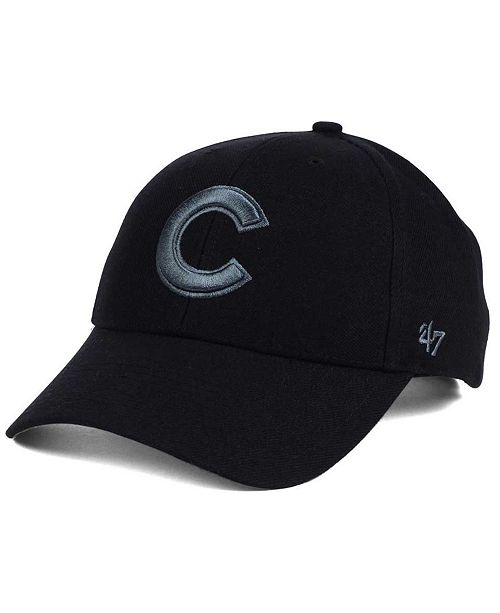 '47 Brand Chicago Cubs MVP Black and Charcoal Cap