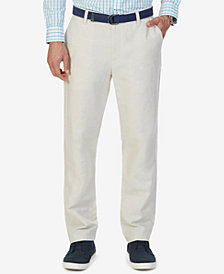 Nautica Men's Classic-Fit Linen Cotton Pants