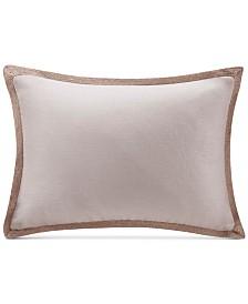 """Madison Park 14"""" x 20"""" Oblong Linen with Jute Trim Decorative Pillow"""