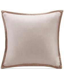 """Madison Park 20"""" Square Linen with Jute Trim Decorative Pillow"""