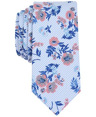 Bar III Men's Hazel Floral Slim Tie, Created for Macy's