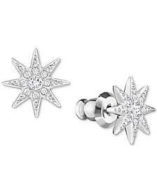 Swarovski Silver-Tone Pavé Star Stud Earrings