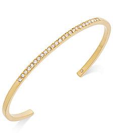 kate spade new york Gold-Tone Pavé Skinny Cuff Bracelet
