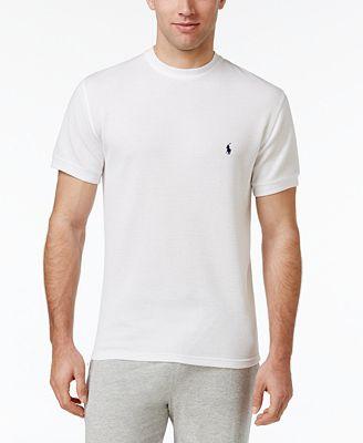 Polo Ralph Lauren Men's Waffle-Knit Thermal Crew-Neck T-Shirt